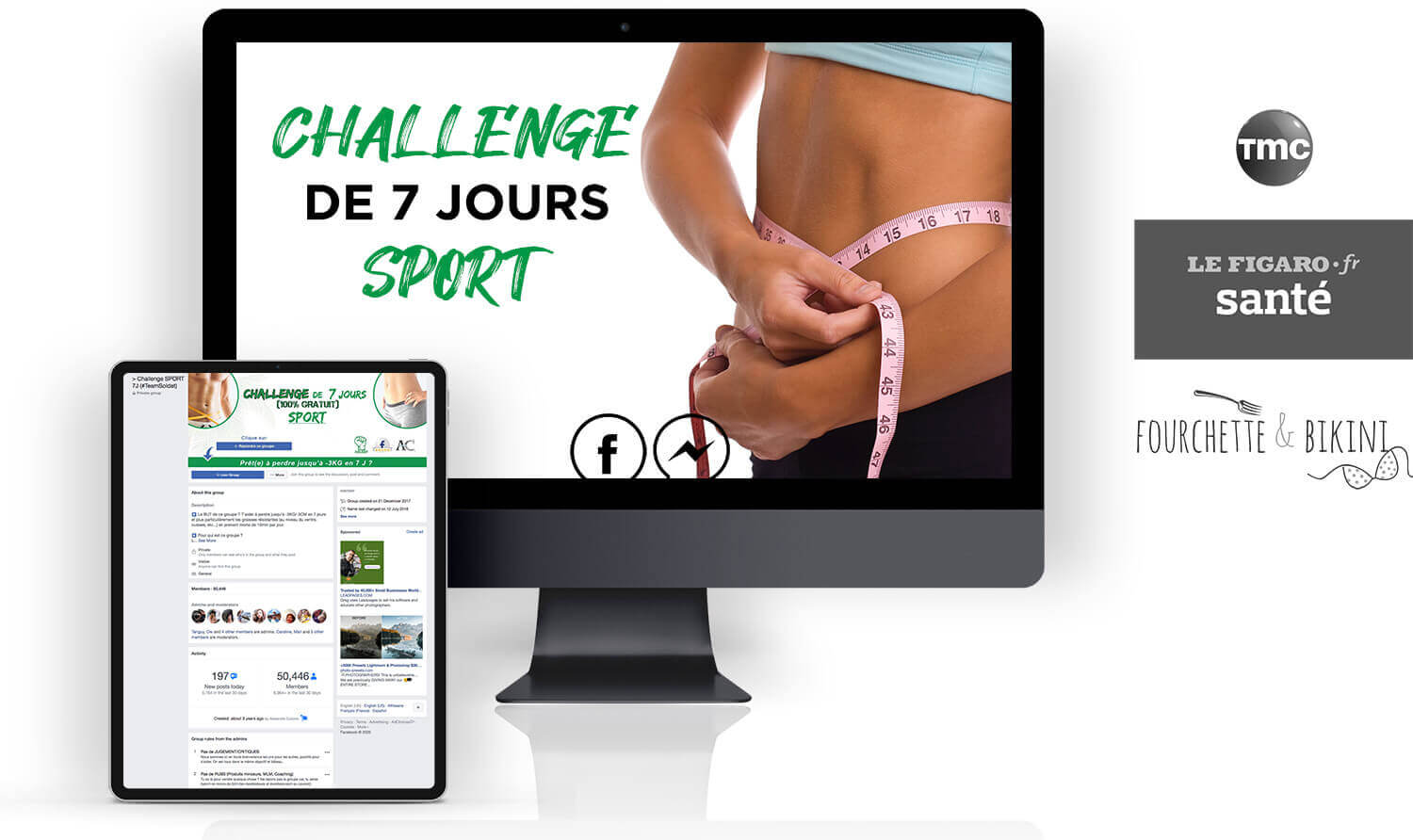 Challenge de 7 jours sport mock up